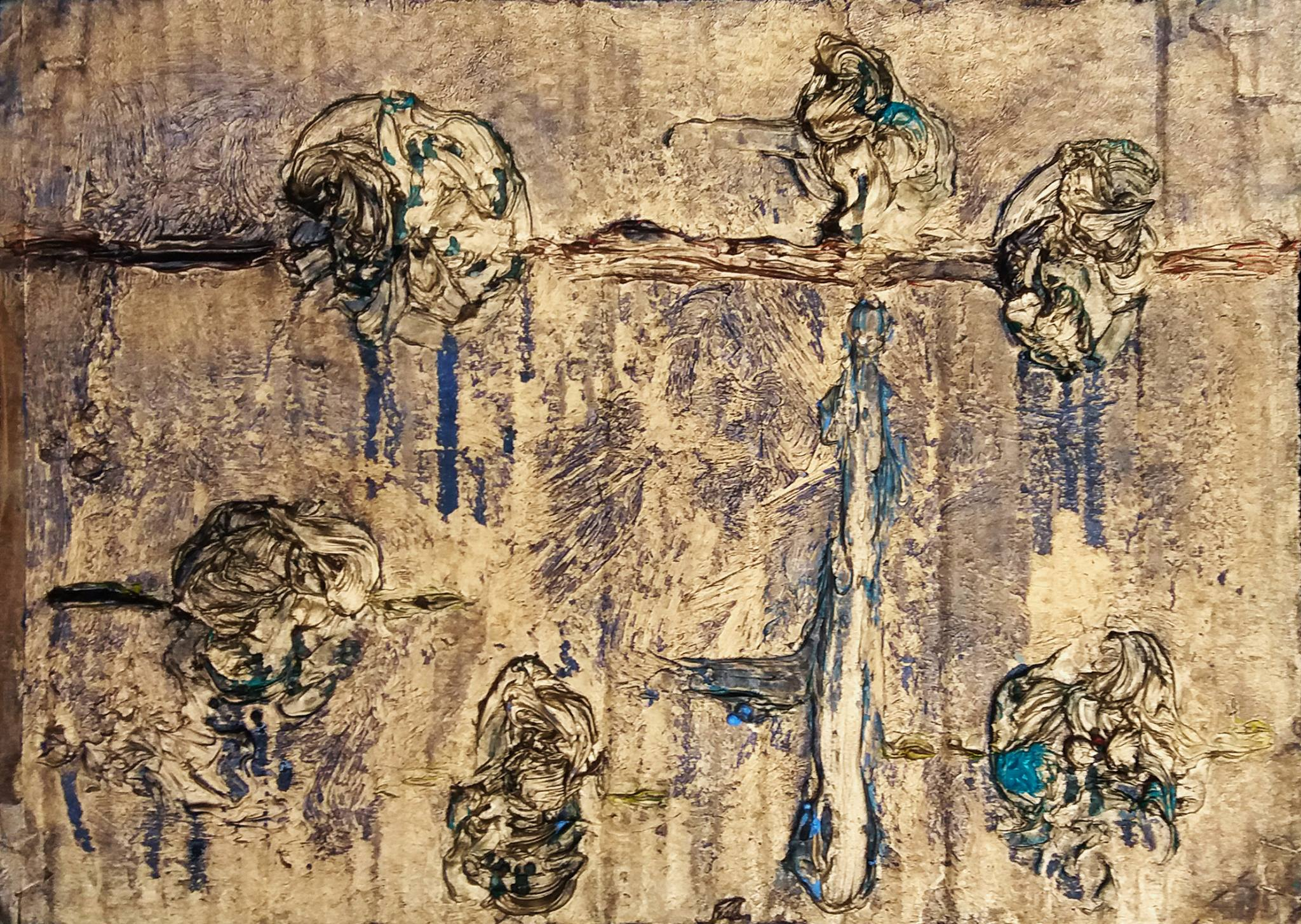 Michele PRINCIPATO TROSSO (1974) Italy, Cristal Flovers, 2015 Mixed media 27 x 39 cm