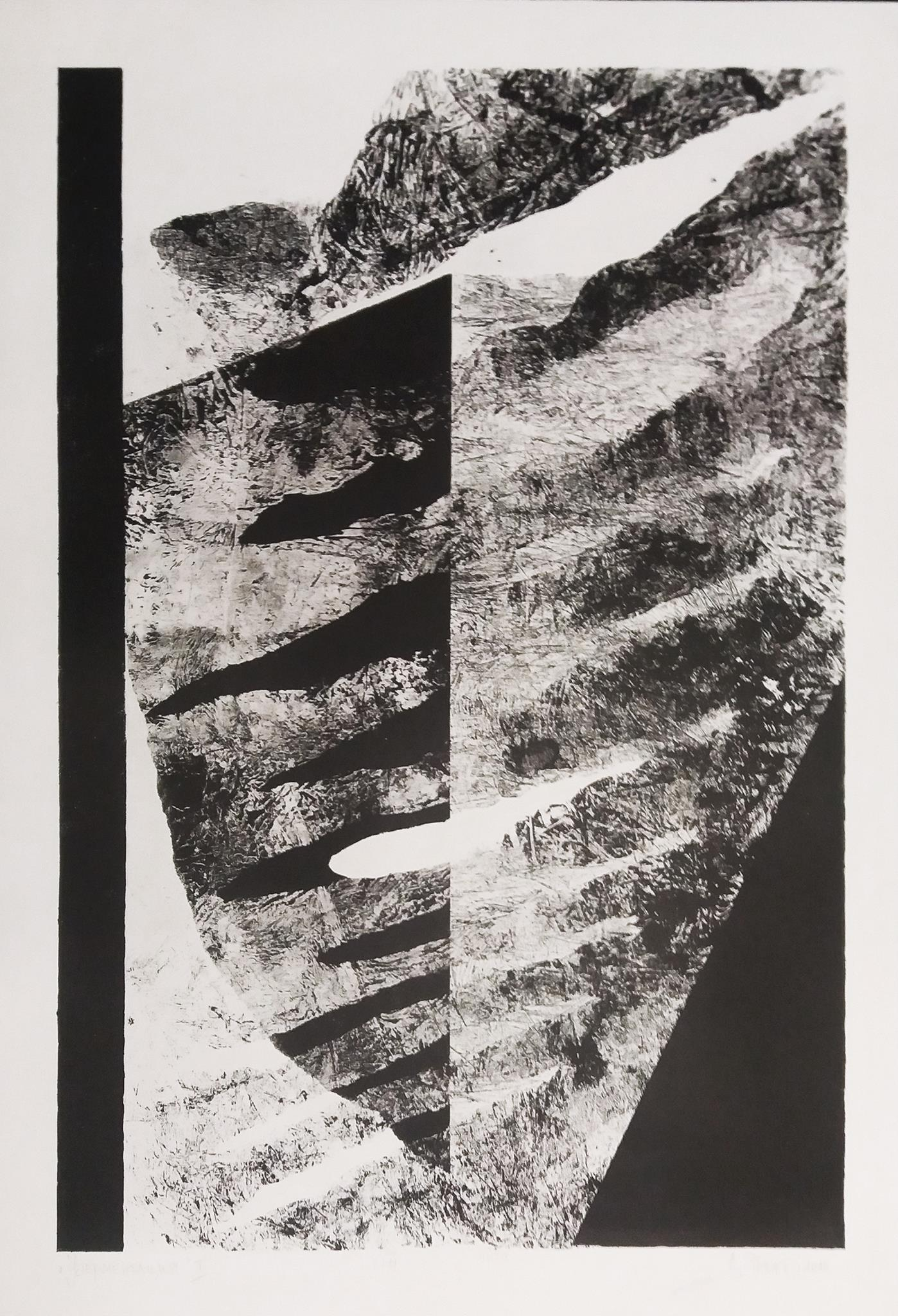 Denica VESELINOVA JANEVA (1974) Bulgaria Fragmentation I, 2015 Graphics, 100 x 70 cm