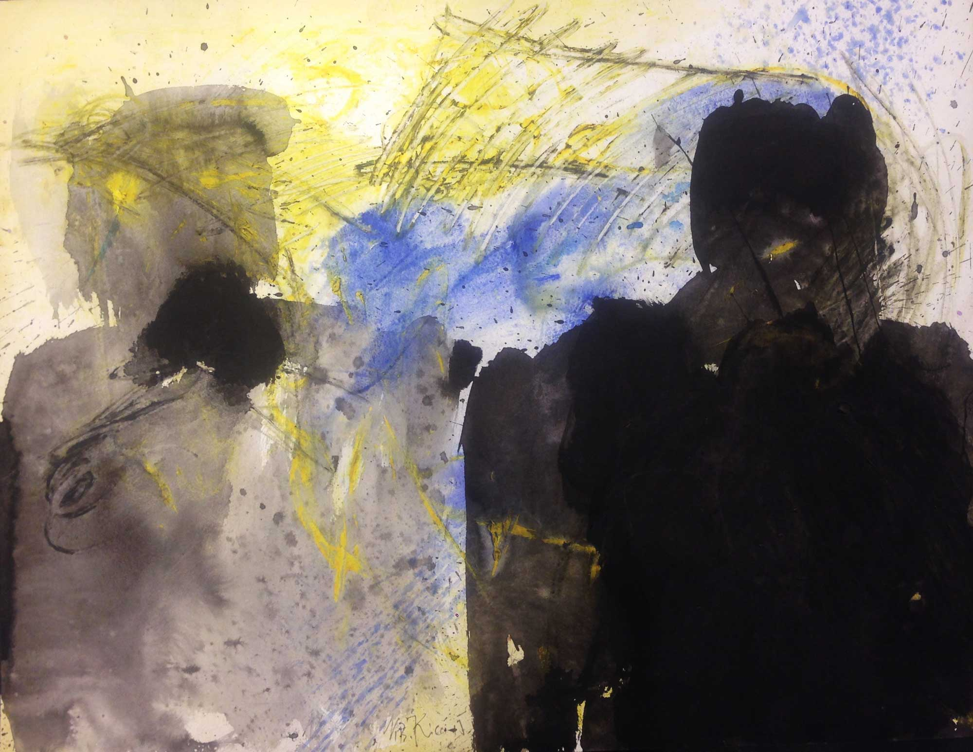Nevzat Bejtuli KICA (1962) Macedonia, Dialogue, 2015, Mixed media, 50 x 65 cm