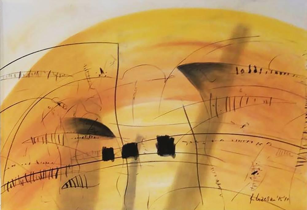 Rosica LAZESKA (1956) Macedonia Composition II, 2015 Crayon and charcoal, 70 x 100 cm