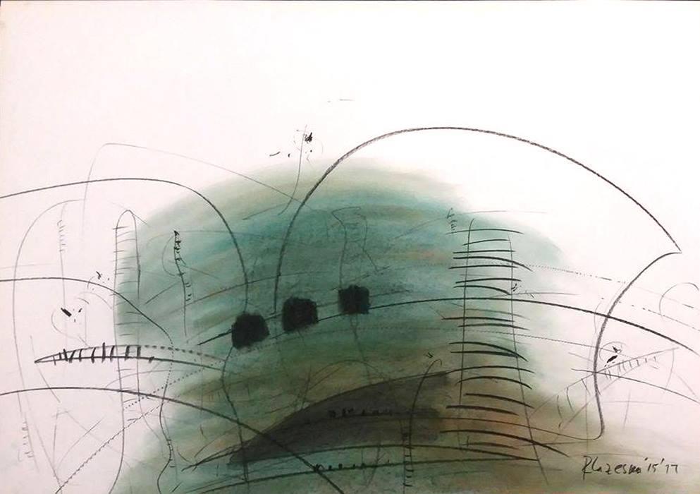 Rosica LAZESKA (1956) Macedonia Composition III, 2015 Crayon and charcoal, 70 x 100 cm