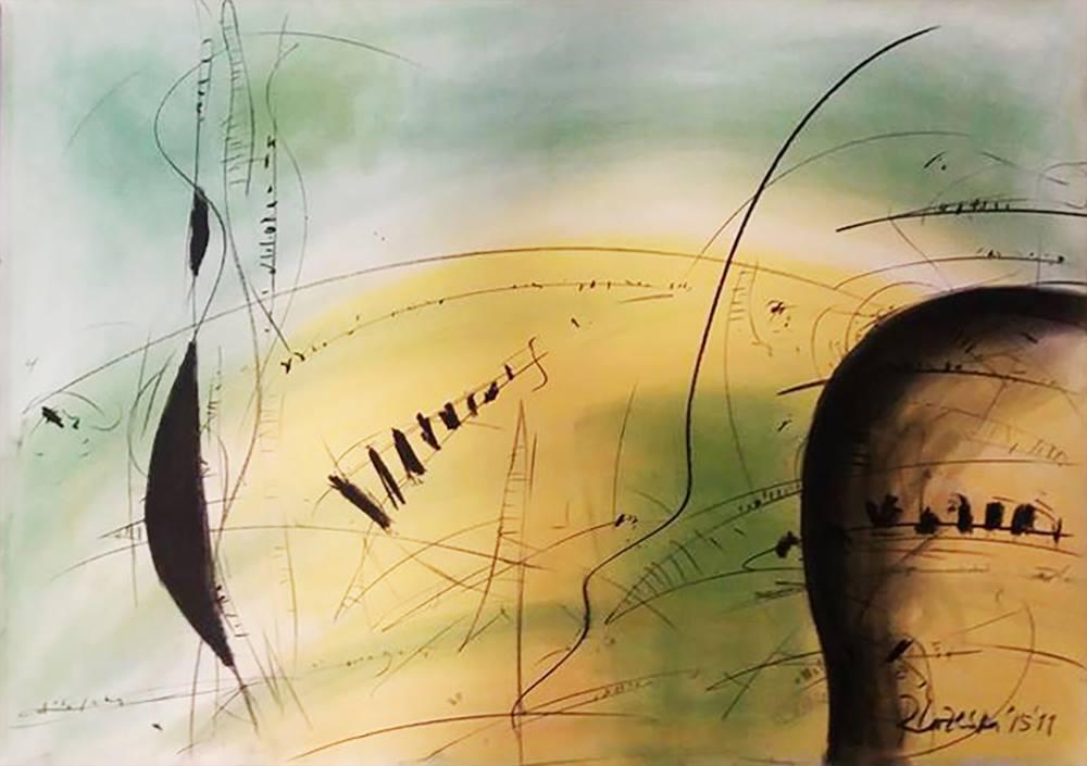 Rosica LAZESKA (1956) Macedonia Composition IV, 2015 Crayon and charcoal, 70 x 100 cm