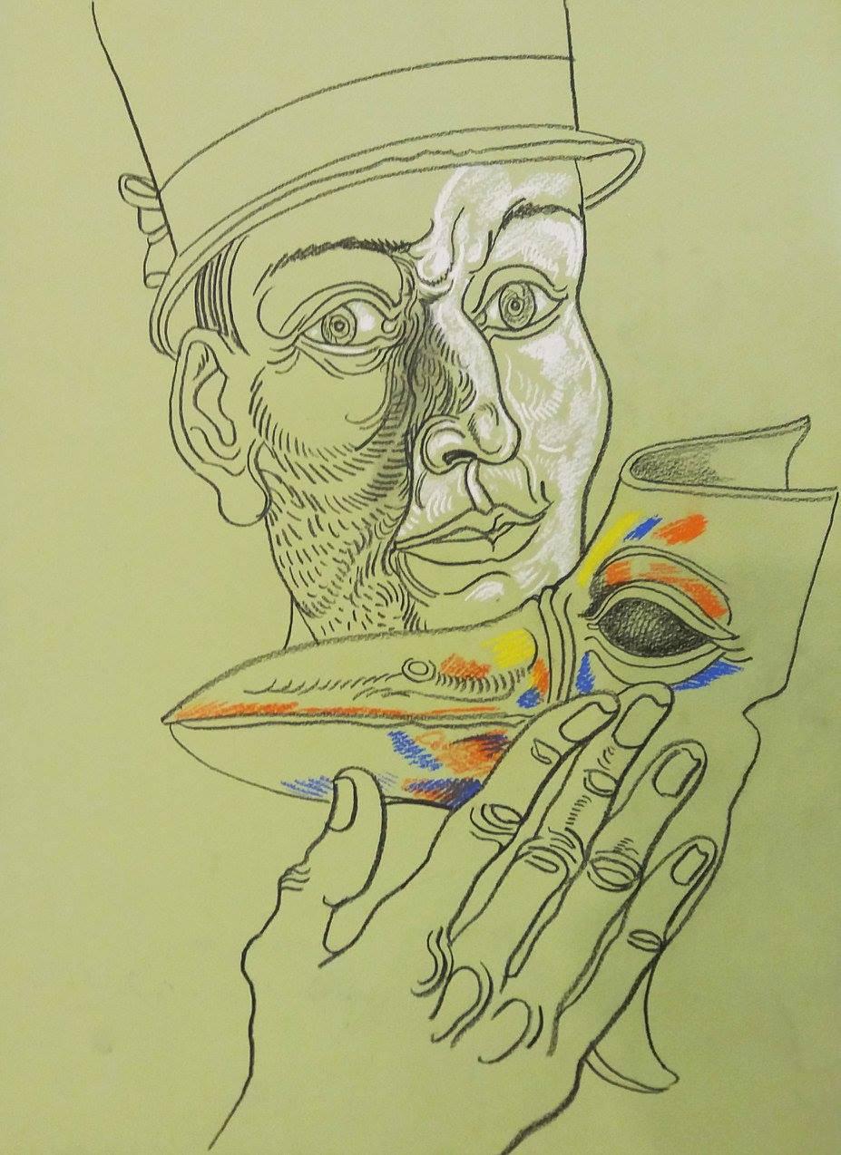 Stoimen STOILOV (1944) Bulgaria Untitled, 2013 Drawing, 30 x 42 cm