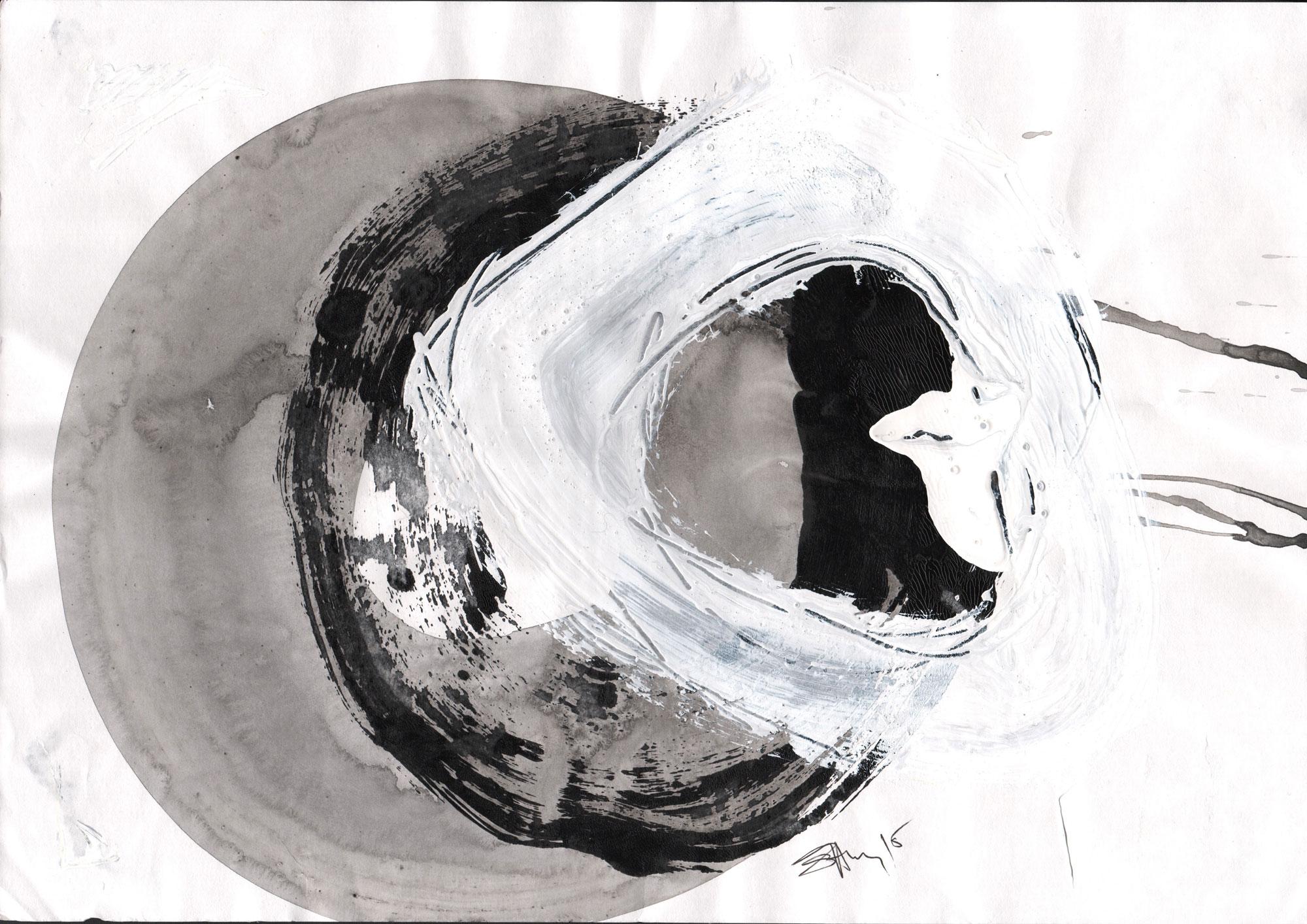Jerca SANTEJ (1964) Slovenia  Circle 3, 2013  Acrylic on paper, 30 x 42cm