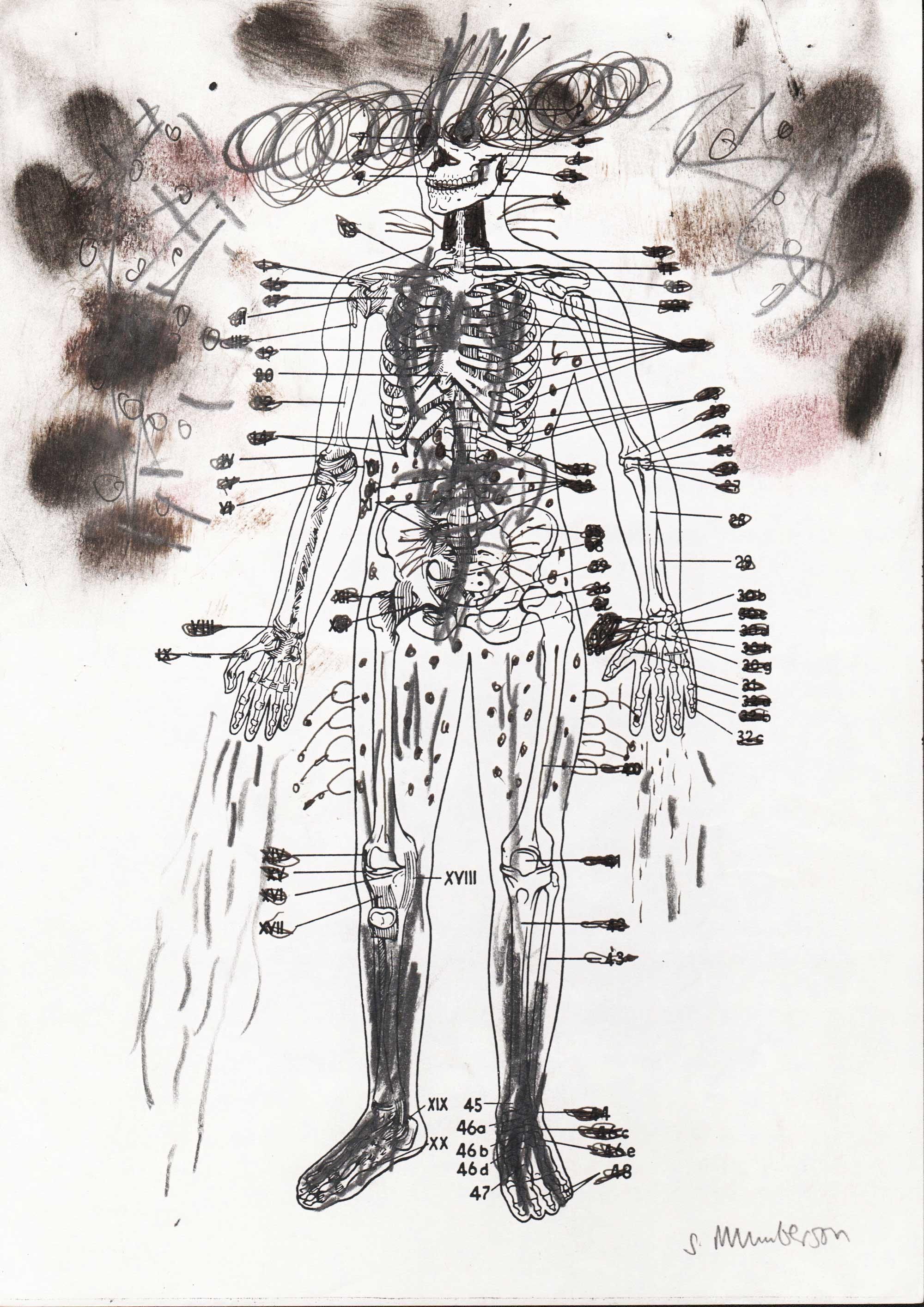Stephen MUMBERSON (1955) UK, New Human 5, 2014, Pencil, 20,5 x 21 cm