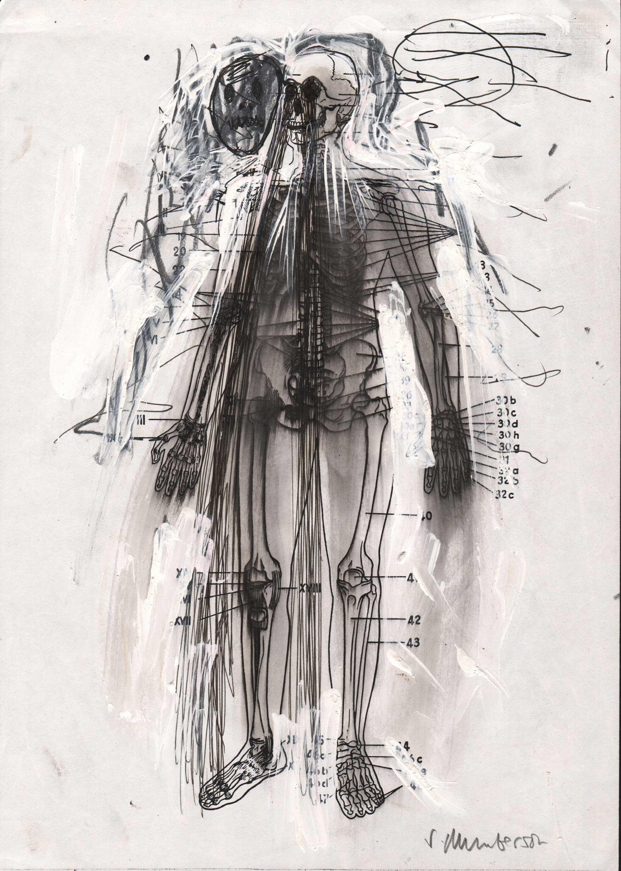 Stephen MUMBERSON (1955) UK, New Human 7, 2014, Pencil, 20,5 x 21 cm