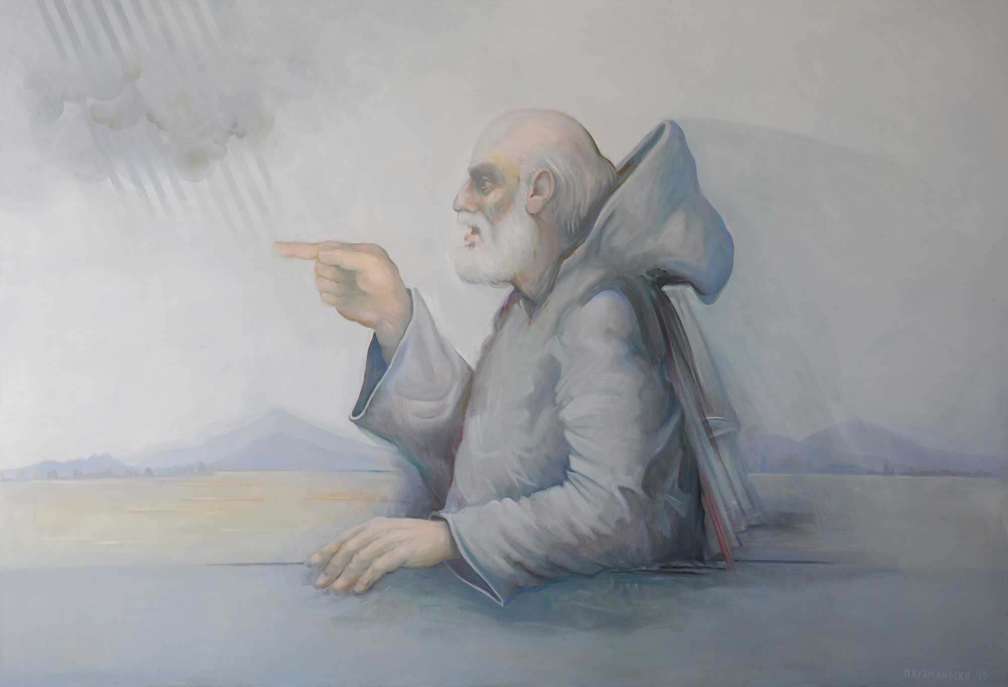 Pavle KUZMANOVSKI, Buried Witness, 2015, oil on canvas, 195 x 285 cm