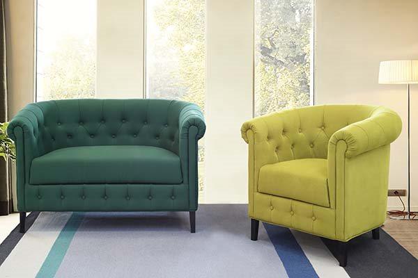 Честер мал фотелја и двосед