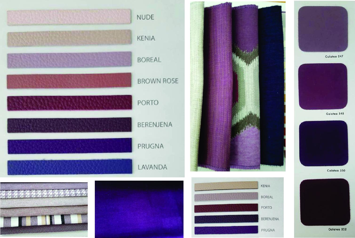 Мебел штоф, микрофибер и кожа во виолетова боја
