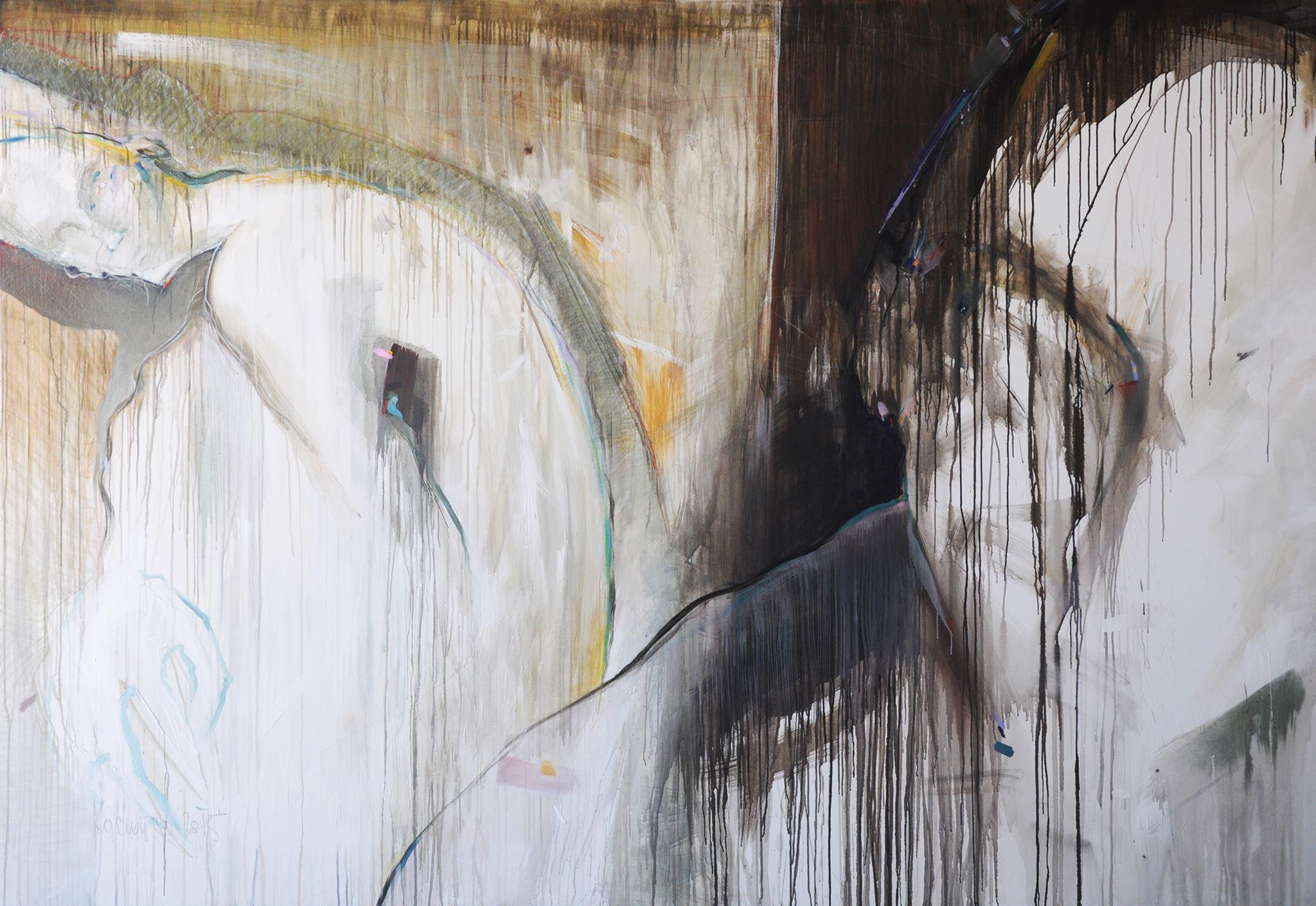 Kasiopeja NAUMOSKA, Painted Words, 2015, acrylic on canvas, 195 x 285 cm