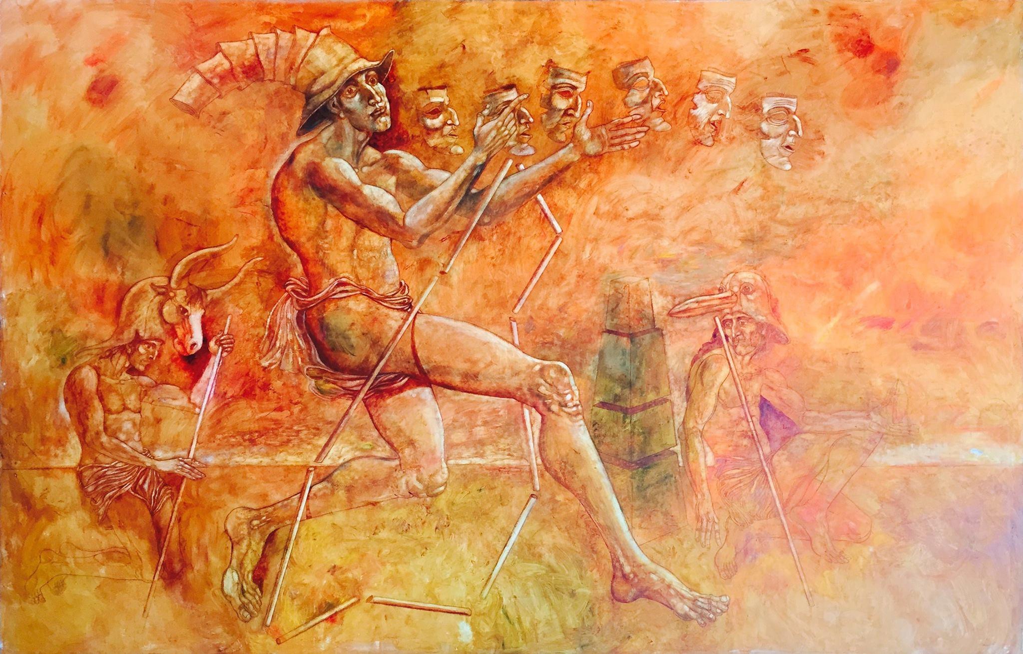 Stoimen STOILOV, Antique Theatre, 2015, oil on canvas, 195 x 285 cm