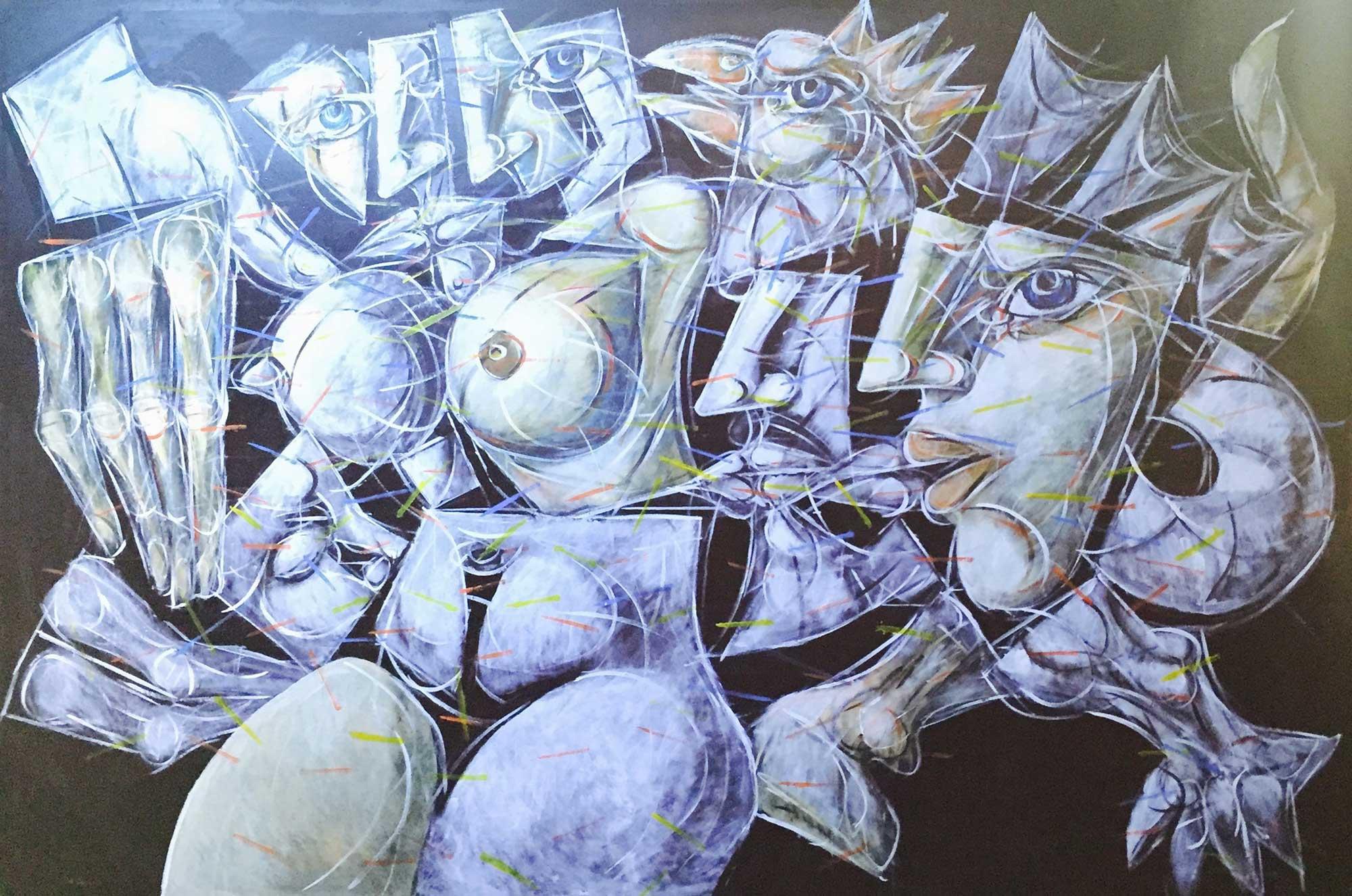 Venceslav ANTONOV, Composition III, 2015, acrylic on canvas, 195x 285 cm