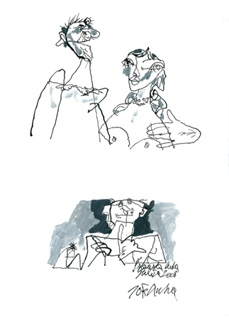 Цртеж - туш, акрил на хартија