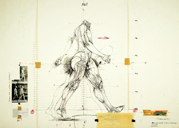 Drawing, collage, 73х106 cm